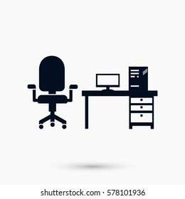 Computer Vector illustration icon, flat design best vector icon