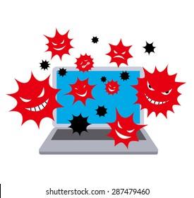 Computer virus. color