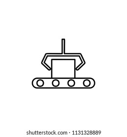 computer-aided manufacturing icon. Element of automation icon for mobile concept and web apps. Thin line computer-aided manufacturing icon can be used for web and mobile