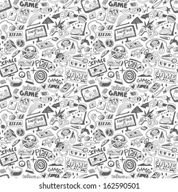 computers games - seamless vector background