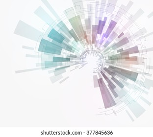 concentration and rotation, abstract image, vector illustration