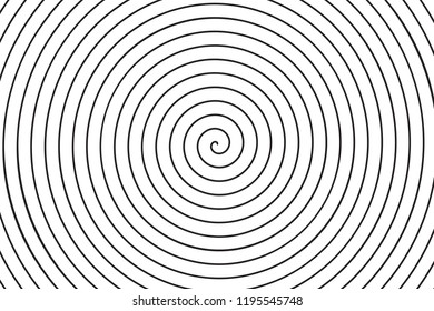 Concentric circle spiral texture. Linear vector background