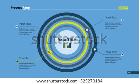 Concentric Circles Diagram Slide Template Stock Vector Royalty Free