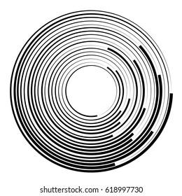 Concentric circles geometric element