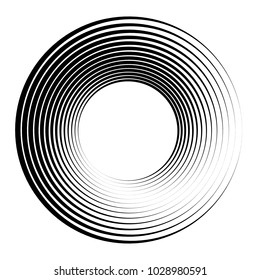 Concentric circles, concentric rings. Abstract radial graphics.