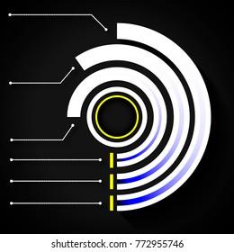 concentric circular infographics
