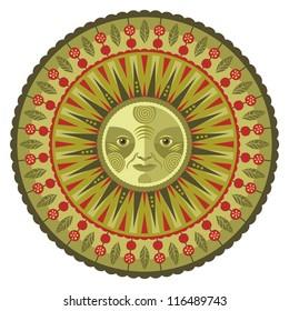 Concentric decorative spring mandala