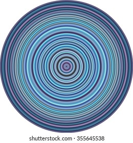 concentric pipes circular shape in multiple blue purple