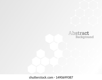 Concept abstract hexagon background. Technology white background. Vector illustration