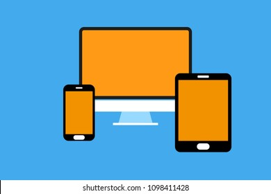 Concept of adapting systems across multiple devices from phone to tablet to desktop computer