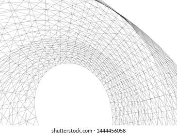 concept architecture 3d vector illustration