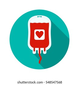 The concept of blood donation. flat vector illustration isolate on a white background