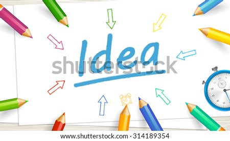 Concept Brainstorming Discussion Idea Idea Text Stock Vector