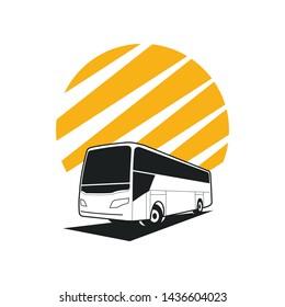 concept bus logo, logo travel agency