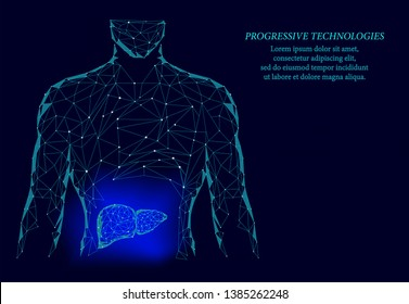 The concept of the business of medicine for treating human hepatitis. Hepatitis. Liver therapy. 3d model of human liver.