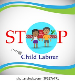 Concept of Child Labour, also Illustrates the employment of children in any work that deprives children of their childhood.