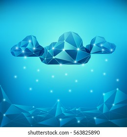 concept of cloud technology, abstract digital technology