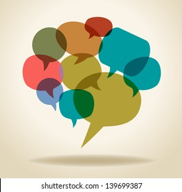 the concept of communication. Abstract design with speech bubble. This work - eps10 vector file, contain transparent elements