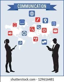 Concept of communication - vector illustration