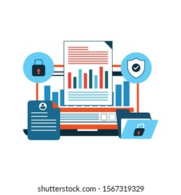 Concept data protection, internet security for web page, banner, presentation