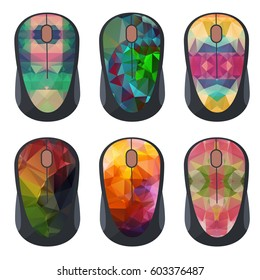 Concept design with abstract colorful pattern for computer mouse