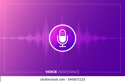 Concept Design Voice Technology. Isometric Illustrations vector. assistant connecting devic e with speak to machine learnning or AI. Internet of thing.