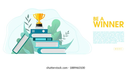 Concept of distance learning, education, business goal, idea, online courses, education, online books for web page, presentation, social media. Vector illustration.