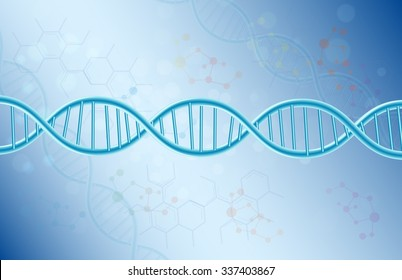 Concept Dna on blue background.vector