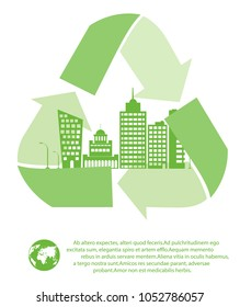The concept of ecological city.The use of renewable resources.