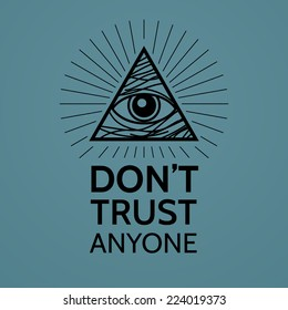Concept with Eye of Providence