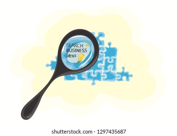 concept of finding key business ideas in a cloud dataset / careful selection of information
