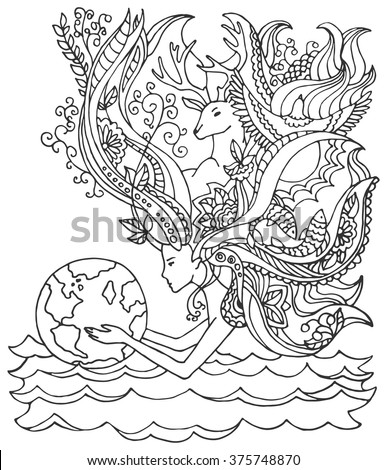 Concept Of Happy Earth Day April 22 Ecology Human Holding Woman