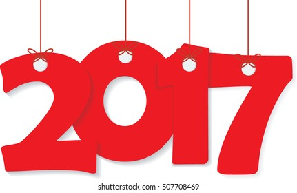 Concept of happy new year 2017. Vector illustration