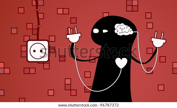 concept of a hard choice between a heart and a brain.