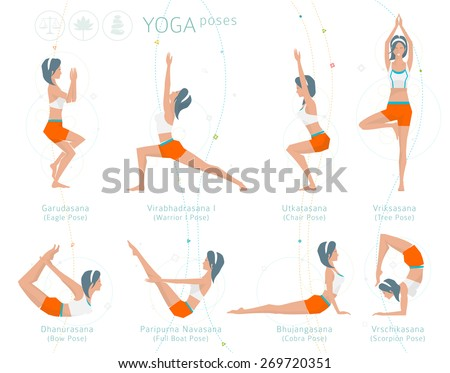 concept healthy lifestyle young woman practices stock