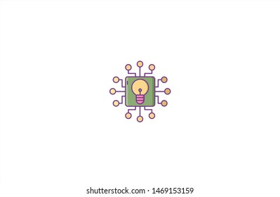 İdea concept icon in trendy flat style isolated on white background.İdea concept symbol. Vector illustration