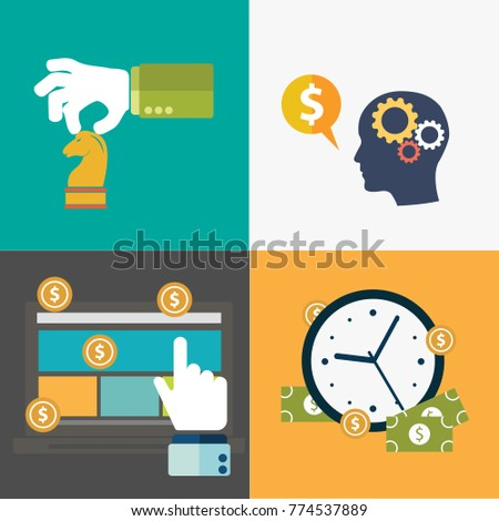 concept idea flat business Vector