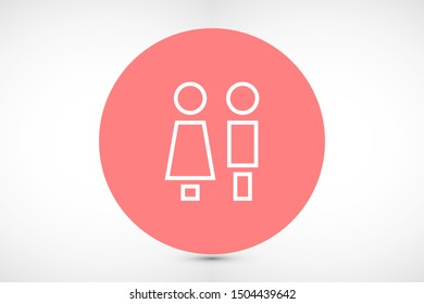 Concept and idea icon of toilet. Concept and idea icon vector logo, web graphics.Concept and idea icon. Man and woman icon vector illustration. stock