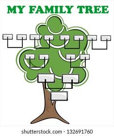 Concept illustration: family tree.