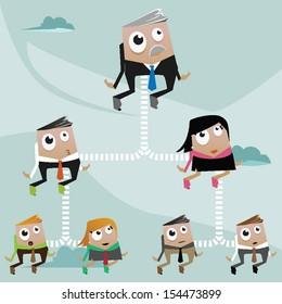 Concept illustration: teamwork