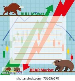 Concept of inforgraphic trading stock market - vector illustration Eps 10.