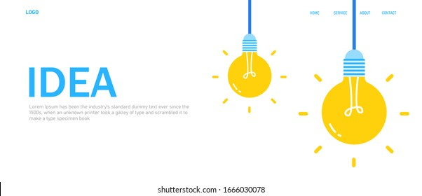 Concept innovation and inspiration,Brainstorming to create idea and innovations,Management of creative thinking processes,Flat vector illustration web banner