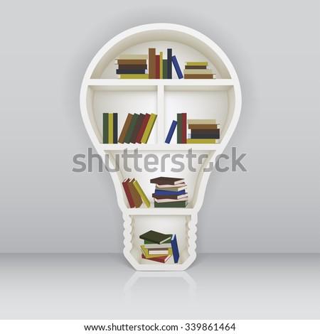 Bookshelf As A Light Bulb