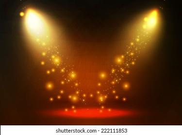 Concept light background. Spotlight. Vector illustration