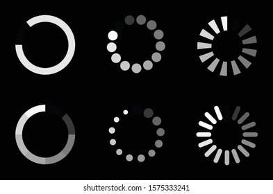 Concept loader icon vector circle button. Indicator for the loading process.