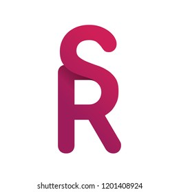 Concept Logo. Flat Vector Design Element. Monogram RS. Combined letters R and S