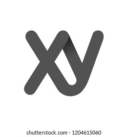 Concept Logo. Flat Vector Design Element. Monogram XY. Combined letters X and Y