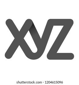 Concept Logo. Flat Vector Design Element. Monogram XYZ. Combined letters X, Y and Z