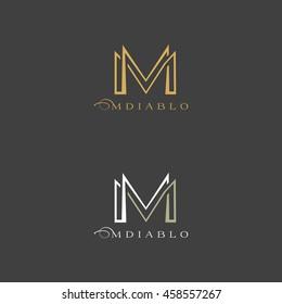 Concept logo letter m. Vector Illustration.