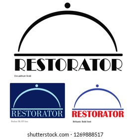 """Concept of logo """"Restorator"""". For HoReCa segment such as producers and sellers of products, restaurants, web sites or public pages in social media, magazines, food bloggers, delivery service."""